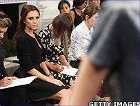 Victoria Beckham at her fashion show