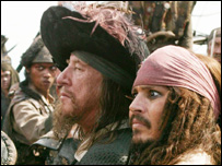 Barbossa and Jack Sparrow