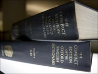 Two dictionaries (AP photo)