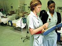 nurses on ward