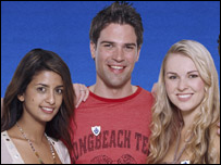 Konnie Huq, Gethin Jones and Zoe Salmon