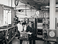 Atomic clock researchers, 1960