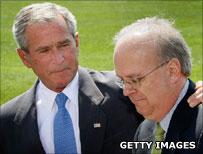 George Bush and Karl Rove