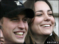 Prince William and Kate Middleton, who are engaged to be married in 2011