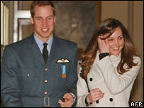 Kate Middleton and Prince William at RAF Cranwell