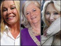 Pamela Stephenson, Ann Widdecombe, Felicity Kendal