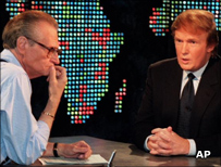 Larry King and Donald Trump