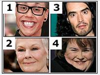 Gok Wan, Judi Dench, Russell Brand and Susan Boyle