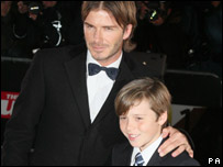 David with eldest son Brooklyn