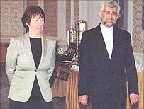Baroness Ashton with Iran's Saeed Jalili