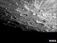 Mercury's south pole