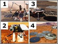 Which lander is Beagle? (Images from Science Photo Library and Nasa)