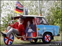 Special pedicar built for the royal wedding