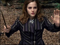 Emma Watson as Hermione in Harry Potter and the Deathly Hallows