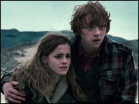 Emma Watson and Rupert Grint as Hermione and Ron in Harry Potter and the Deathly Hallows