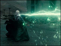 Ralph Fiennes as Voldemort in Harry Potter and the Deathly Hallows