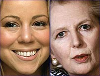 Mariah Carey and Margaret Thatcher