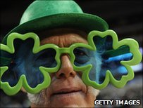 Man in shamrock glasses