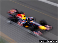 Sebastian Vettel in action