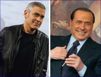 George Clooney and Silvio Berlusconi