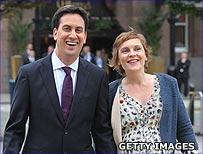 Ed Miliband and Justine Thornton