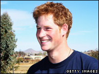 Prince Harry in Lesotho in Africa