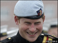 Prince Harry presenting military medals