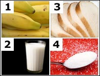 Bananas and other items