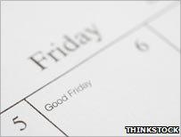 Good Friday in calendar