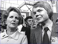 Margaret Thatcher and William Hague