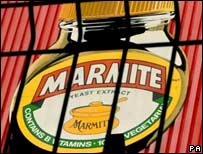 A sign at the Unilever Marmite factory in Burton on Trent, Stafffordshire