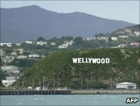 Artist's impression of Wellywood sign, photo by AFP/Wellington Airport
