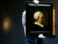 Rembrandt painting, 'Elderly Woman in a White Bonnet'