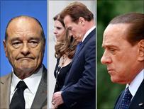 Chirac, Schwarzenegger, Berlusconi