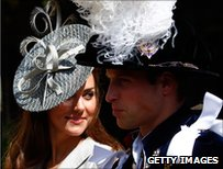 Kate and William (in shadow)