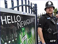 Policeman in Newquay
