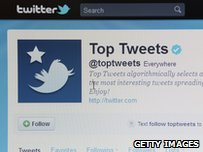Screen capture of a Twitter page