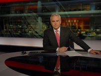 Huw Edwards in the studio