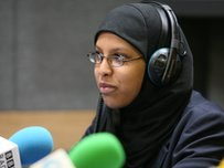 School Reporter in a radio studio