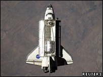 Space shuttle Discovery snapped from the International Space Station