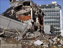 File photograph of earthquake damage in Christchurch, New Zealand