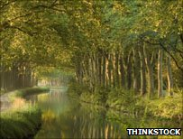 File photograph of the Canal du Midi