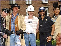 The Village People promoting their 25th Anniversary Tour