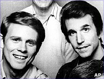Ron Howard as Richie Cunningham and Henry Winkler as the Fonz