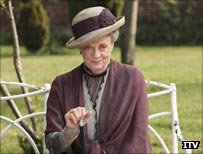 Maggie Smith in character in Downton Abbey
