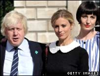 Boris Johnson at the launch of London Fashion Week