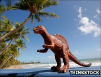 T.rex on a beach