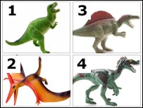 Four dinosaur toys (Thinkstock photos)