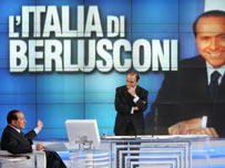 Berlusconi on a tv set (AP)