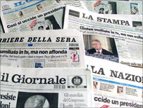Italian newspapers (AP)